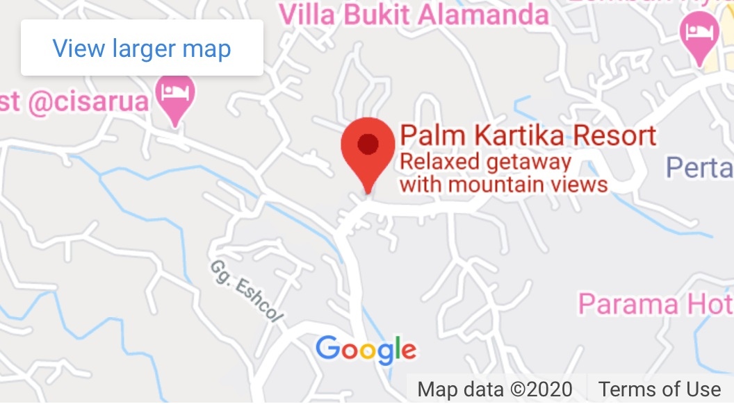 Google map - Palm Kartika Resort Hotel Puncak